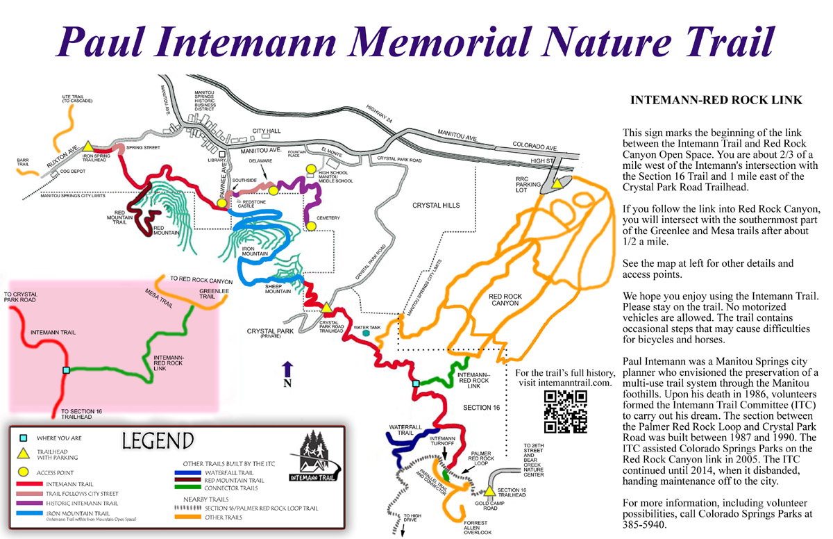 Intemann Trail Trail Maps