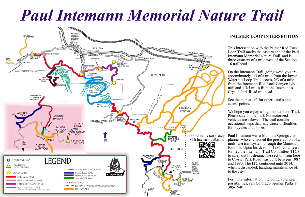 red rock link. intemann trail  trail maps